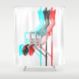 Pole Dance Sweet 3D Inversion Shower Curtain