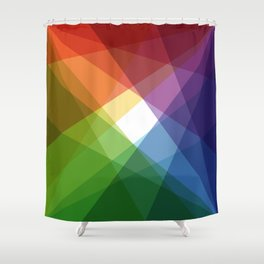 Fig. 005 Colorful Shapes Shower Curtain