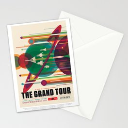 Grand Tour - NASA Space Travel Poster Stationery Cards