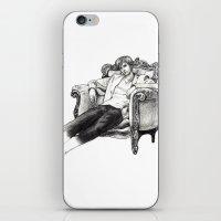 david tennant iPhone & iPod Skins featuring David Tennant by Chloé Arros