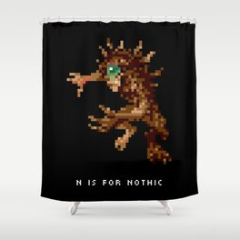 N is for Nothic Shower Curtain
