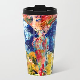 Butterfly 1, Acrylic On Canvas, Chase Medved Metal Travel Mug