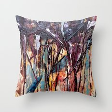 Color Texture History 2 Throw Pillow