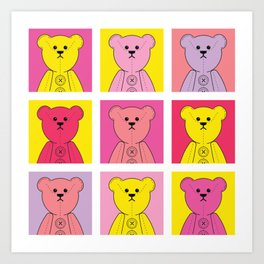 Grumpy Teds Bright Block Art Print