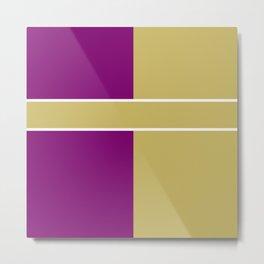 Team Color 6....Gold,purple Metal Print