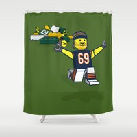 Bears Bricked: Jared Allen Shower Curtain