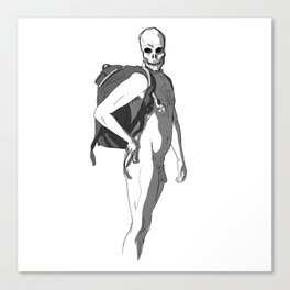 Flirting with death Canvas Print
