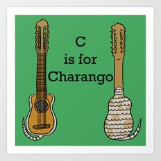 C is for Charango Art Print