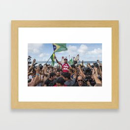 Gabriel Medina wins the ASP World Championship Framed Art Print