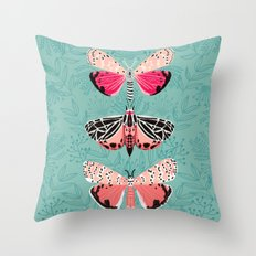 Lepidoptery No. 6 by Andrea Lauren Throw Pillow