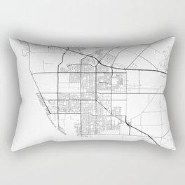 Minimal City Maps - Map Of Oxnard, California, United States Rectangular Pillow