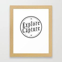 Explore and Capture Logo 1 Framed Art Print