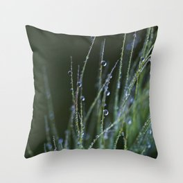 dew drops in abstract Throw Pillow