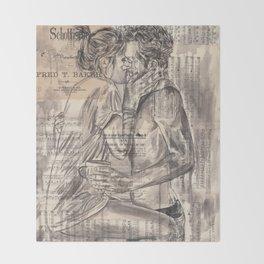 Morning Kiss Throw Blanket