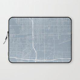 San Bernardino Map, USA - Blue Laptop Sleeve
