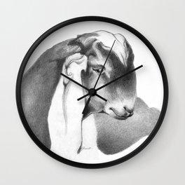 Anglo Nubian Buck Kid 2 Wall Clock