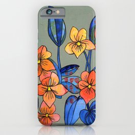 Goosefoot Violets iPhone Case