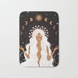 Summer Solstice Moon Goddess Bath Mat