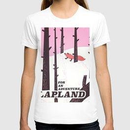 Lapland vintage travel poster T-shirt