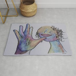 ASL Mother in Denim Coloring Rug