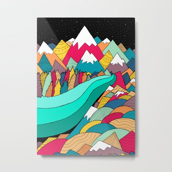 River in the mountains Metal Print