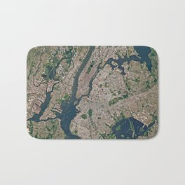 New York from space Bath Mat