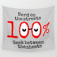 nerd Wall Tapestries featuring Nerd Geek  by mailboxdisco