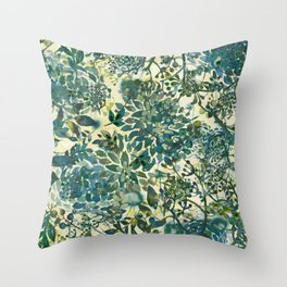 spring time emerald green Throw Pillow