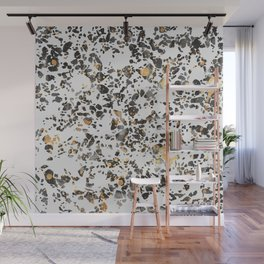 Gold Speckled Terrazzo Wall Mural
