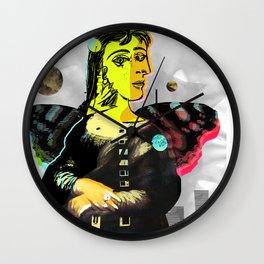 Mona Dora Lisa Maar Collage 2 StreetArt Wall Clock