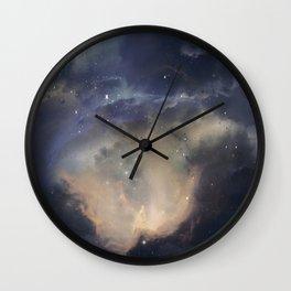 GOLD NEBULA Wall Clock