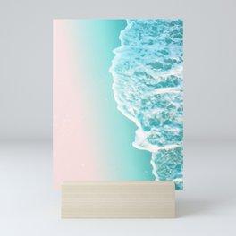 Turquoise Blush Ocean Dream #1 #water #decor #art #society6 Mini Art Print