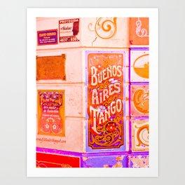 Tango Buenos Aires, Argentina. Art Print
