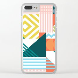 Colour Shapely Pattern Clear iPhone Case