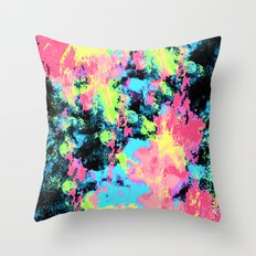 Blacklight Neon Swirl Throw Pillow