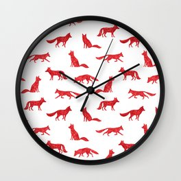 Simple Foxes Wall Clock