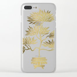 Bonsai Tree – Gold Palette Clear iPhone Case