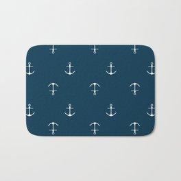 Anchor Print Bath Mat