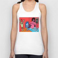 hotline miami Tank Tops featuring HOTLINE. by Dave Bell