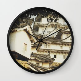 White Heron Castle Wall Clock