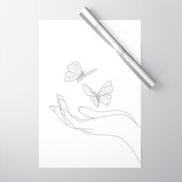 Butterflies on the Palm of the Hand Wrapping Paper