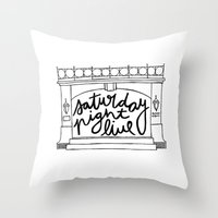 snl Throw Pillows featuring SNL Stage by Liana Spiro