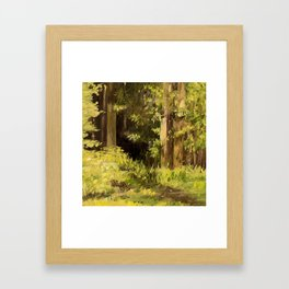 Woodland Landscape Nature Art Framed Art Print