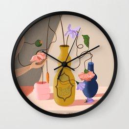 Floral Arrangement Wall Clock