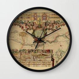 Canal Du Midi 1697 Wall Clock