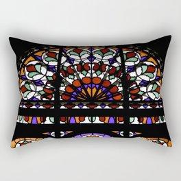 Colorful Rainbow Stain Glass Persian Window Art Rectangular Pillow