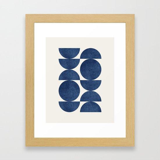 Blue navy retro scandinavian Mid century modern by moonlightprint