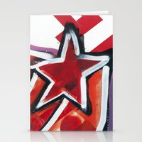 grafitti Stationery Cards featuring Grafitti Star by Leslie Philipp