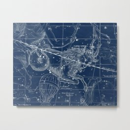 Capricorn sky star map Metal Print