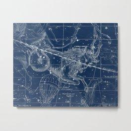 Capricorn sky star map Metal Print